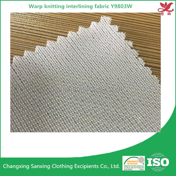 Warp knitting interlining fabric fusing garment accessories for men's suit Y9083W