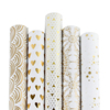 /product-detail/customised-gold-foil-pattern-print-white-gift-wrapping-paper-with-roll-packaging-60830706176.html