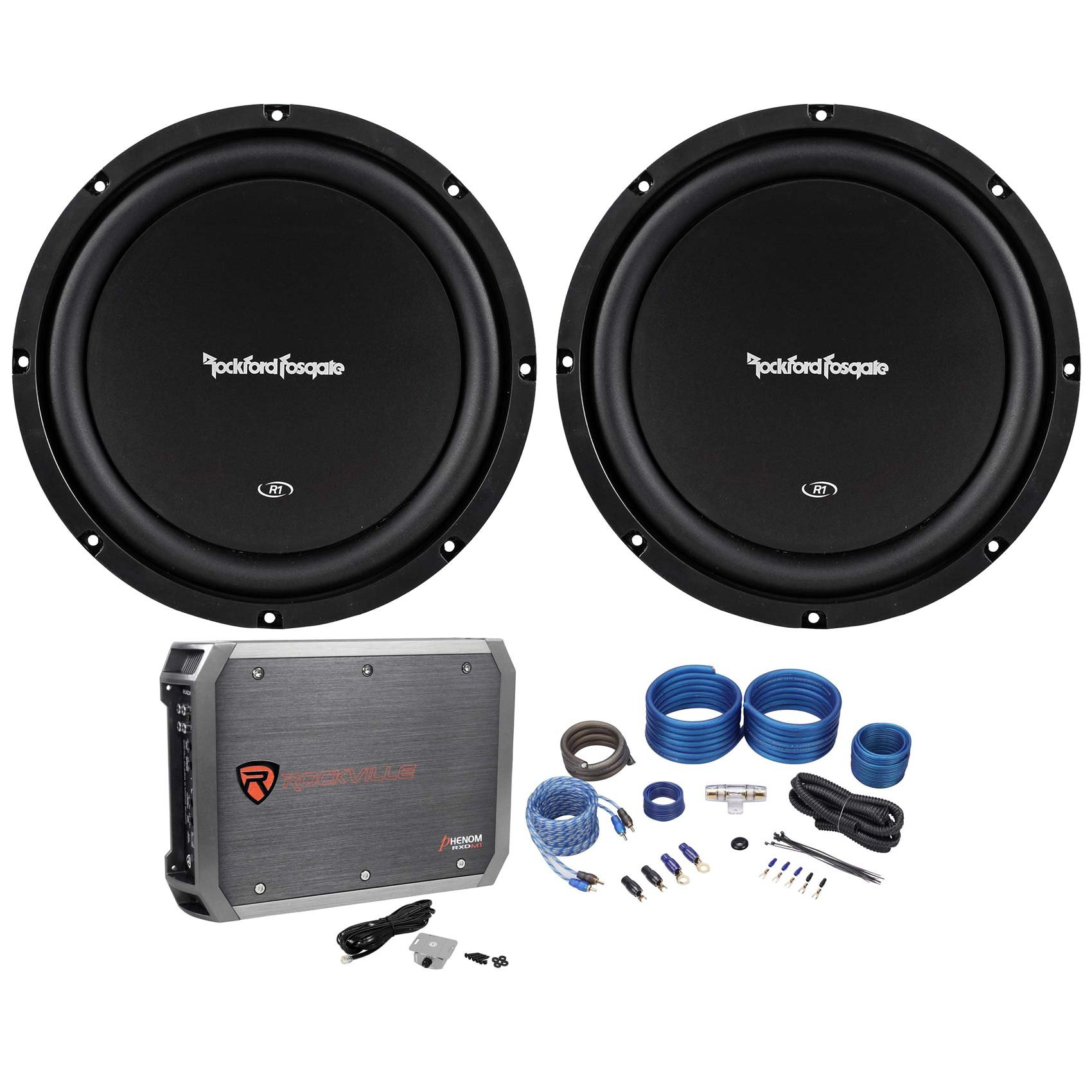 Cheap Car Amplifier Rockford Fosgate Find Stereo Kit 800w Sub 500w 2 Channel Capacitor Wiring Get Quotations R1s4 10 Subwoofers Mono