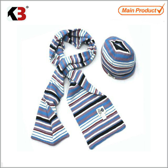 2016 Wholesale price plain winter hat scarf winter hat scarf knitted scarf and hat set winter