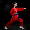 Colored Martial Arts Karate Uniform Red Karate Gi pantalones del karate