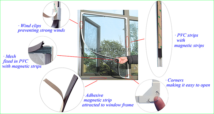 Diy Magnetic Insect Screen Window Insect Screen Doors And Windows Aluminium Windows With Insect