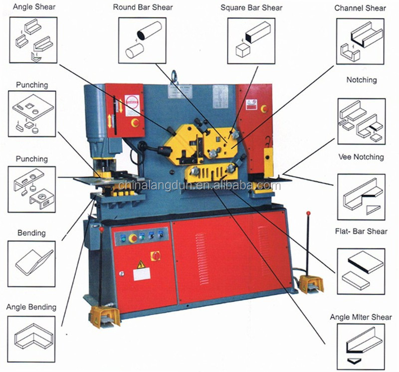 Hydraulic Union iron working machines With Metal Cutter and All Steel Press Brake