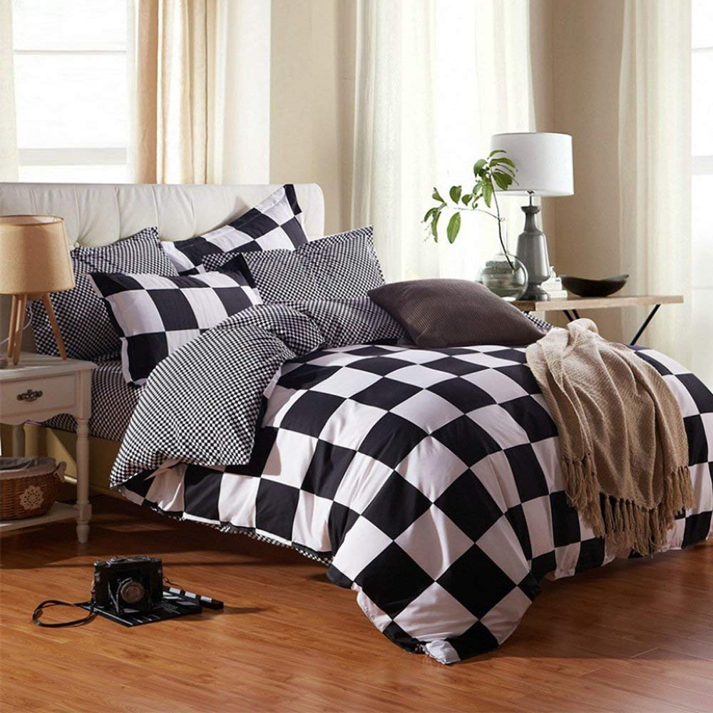 5abf5641e4f Get Quotations · Classical black and white cotton Bedding set home textile  bed linen Duvet cover Bedclothes Queen Size