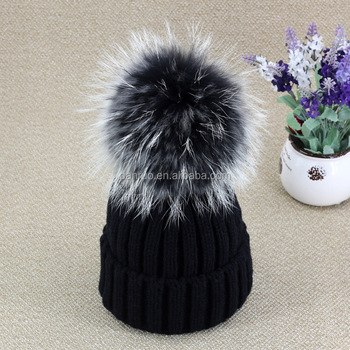 c76f54be6b8 Cover Ear Hat Knit Hat With Ball Top Faux Fur Pom Pom - Buy 15cm ...