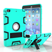 For Ipad cases and covers, 2016 Dual Layer TPU+PC Armor Hybrid Case for ipad MINI covers