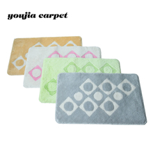 Carpet factory wholesale widely used 100% polyestey dots style bathroom rugs