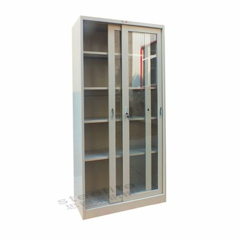 Used Steel Laboratory Sliding Glass Door Storage Cabinet Buy Steel