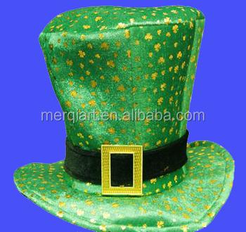 f6e40218f6c2 Fancy Irish top hat gold shamrock st patricks day leprechaun green top hat