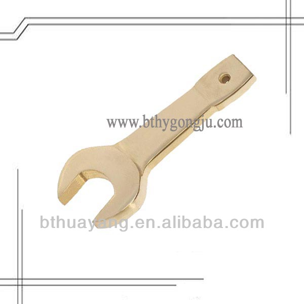 non sparking striking open end wrench/non sparking safety tool,flogging spanner