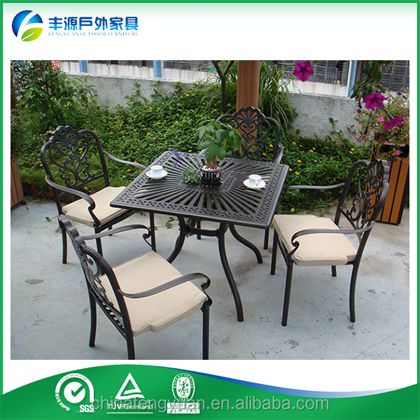 Best Selling Hot Chinese Products Outdoor Cast Aluminum Patio Set, Dining Table And Chair for Outdoor Use