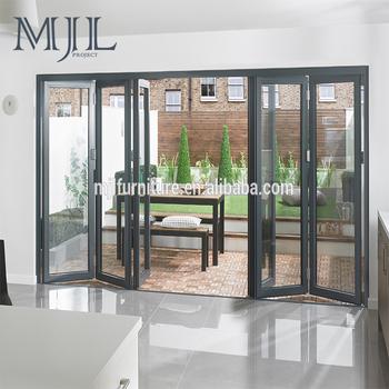 China Fabrik MJL Heißer Verkauf Outdoor, Außen Aluminium Bifold Türen
