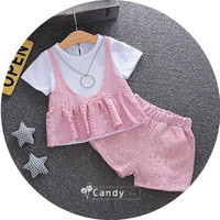 zm23525a new style children clothes girls clothing sets summer baby frock designs