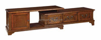 Afamily Sauder August Hill Corner Entertainment Stand, Oiled Oak Finish