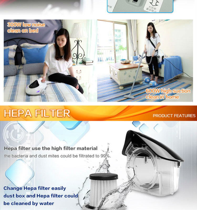 CCFL UV light upright vacuum cleaner