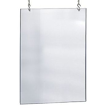 Ceiling Hanging Frameless Clear Acrylic Poster Frame With Hooks ...