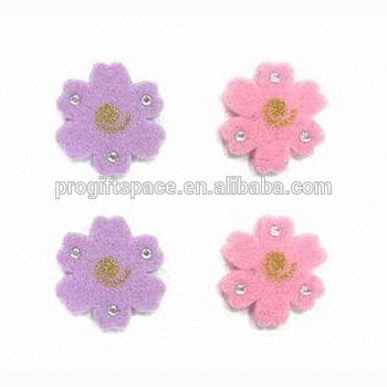 2018 hot wholesale graphic design high quality new products custom home decoration felt decorative flower sticker made in China