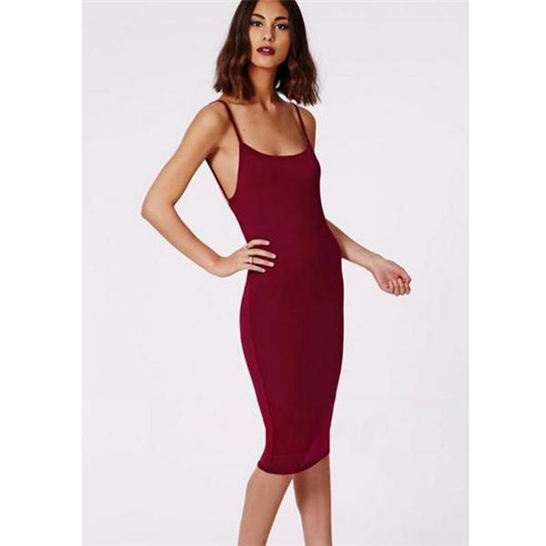 Get Quotations · 2015 Vestidos De Festa Women Backless Dress Bodycon Pencil  Midi Dress Sexy Bodycon Bandage Dress KH658997 c48cd41543d9