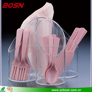 China manufacturer acrylic tableware display spoon holder, fork display