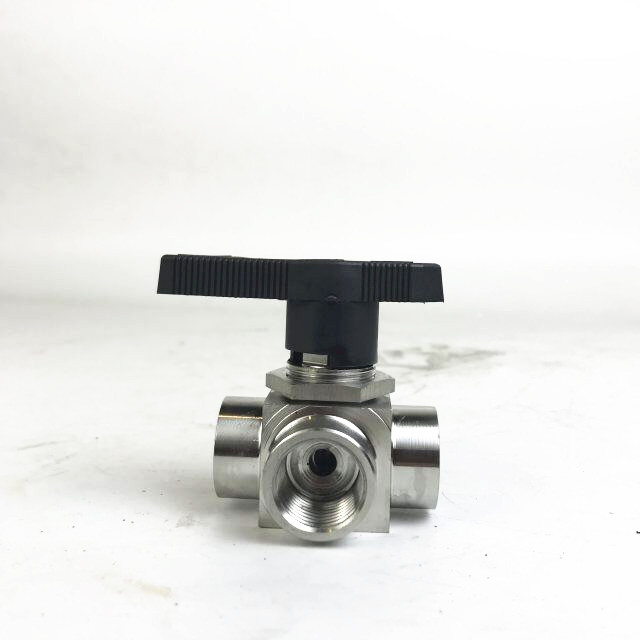 Stainless steel SS welding 3 way ball valve