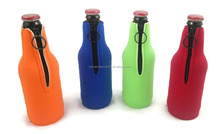 Neorepne Insulated Beer Bottle Cooler Case Sleeve Zipper Neoprene Collapsible
