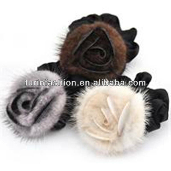Beautiful Mink fur flower/ Brooth