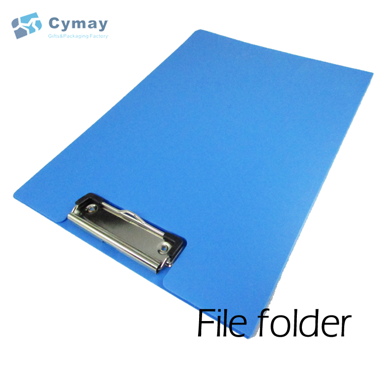 Clip folder office stationery file portfolio folder plastic cover with metal clip