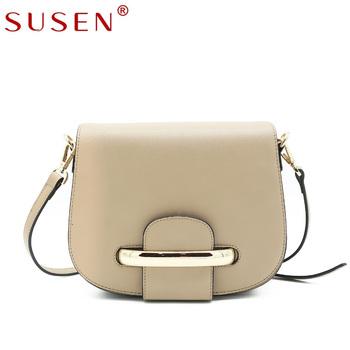 fdfe9f159465 SUSEN handbags women grainy leather crossbody sling bag with gold clasp crossbody  bag women