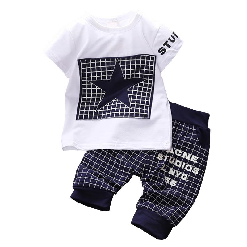 0b895a3e Baby boy clothes 2015 Brand summer kids clothes sets t shirt pants suit  clothing set Star