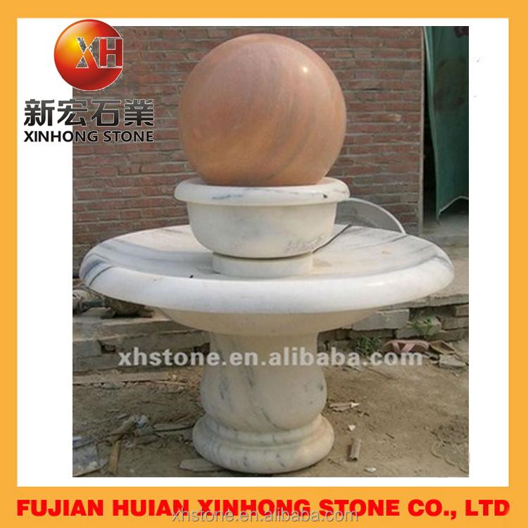 Fuente de agua redonda giratoria m rmol esferas bola - Fuentes de marmol para jardin ...