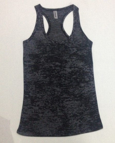 new arrival custom logo <strong>women</strong> fashion polyester cotton gym racerback burnout <strong>tank</strong> <strong>top</strong>
