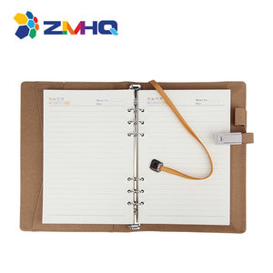 New 2019 Best Quality Leather Power Bank Notebook