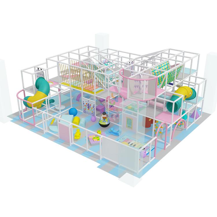 Directo de fábrica de los niños laberinto interior estructuras de juego suave zona de juegos equipo