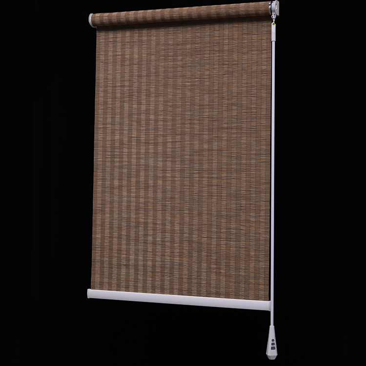 Bamboo Wooden Roller Shades Automatic Roller Blinds
