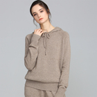 Brown Cashmere Sweater Hoodie Womens