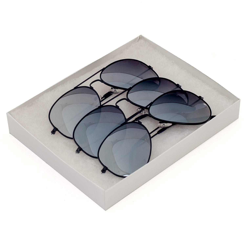Classic Tear Drop Mirror Lens Aviator Sunglasses Gift Box
