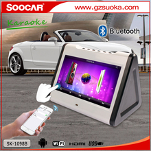 Android portátil wifi touchscree Bluetooth dual hdd ktv karaoke <span class=keywords><strong>player</strong></span> para a festa