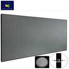 Customized Size 3D 4K ALR Anti-light Ultra Thin Frame Projection Screen with Black Crytal Diamond Fabric for Luxury Projector