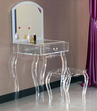 Clear Acrylic Mirrored Furniture Dressing Table, Clear Acrylic Mirrored  Furniture Dressing Table Suppliers and Manufacturers at Alibaba.com