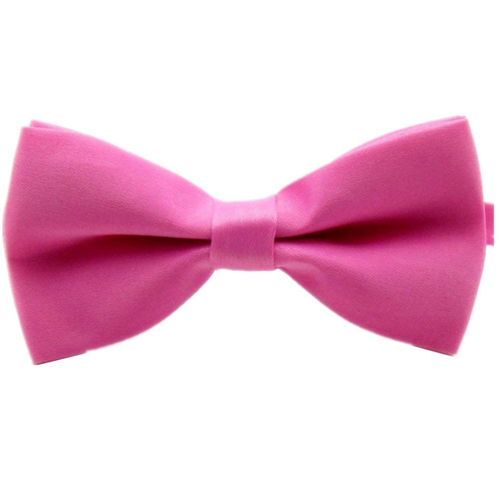 56546ebd6252 Get Quotations · O-C 3PC Mens Pink Butterfly Bow Tie Best man cravat Wedding  Dyed Microfiber Tie