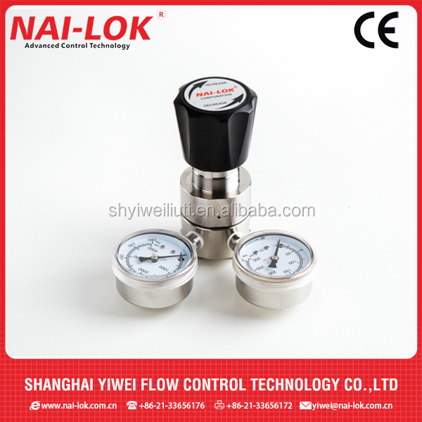 Gas Regulator reasonable price SS316 single stage gas regulator