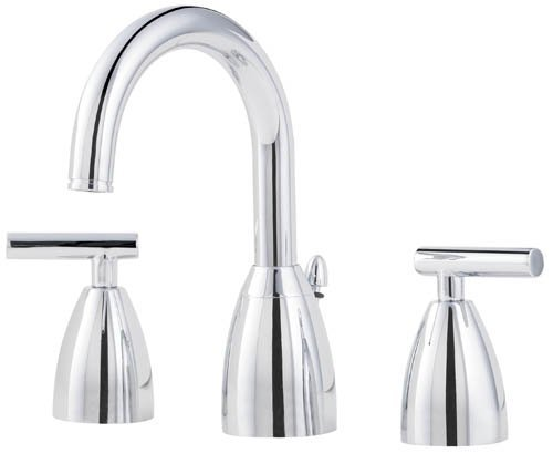 Price Pfister 049NC00 Contempra Double-Handle Widespread Lavatory Faucet with Pop-Up, Chrome