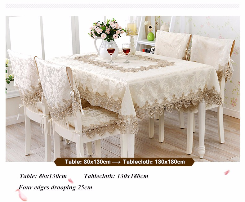 Proud Rose European Lace Round Table Cloth High Grade Tea Table