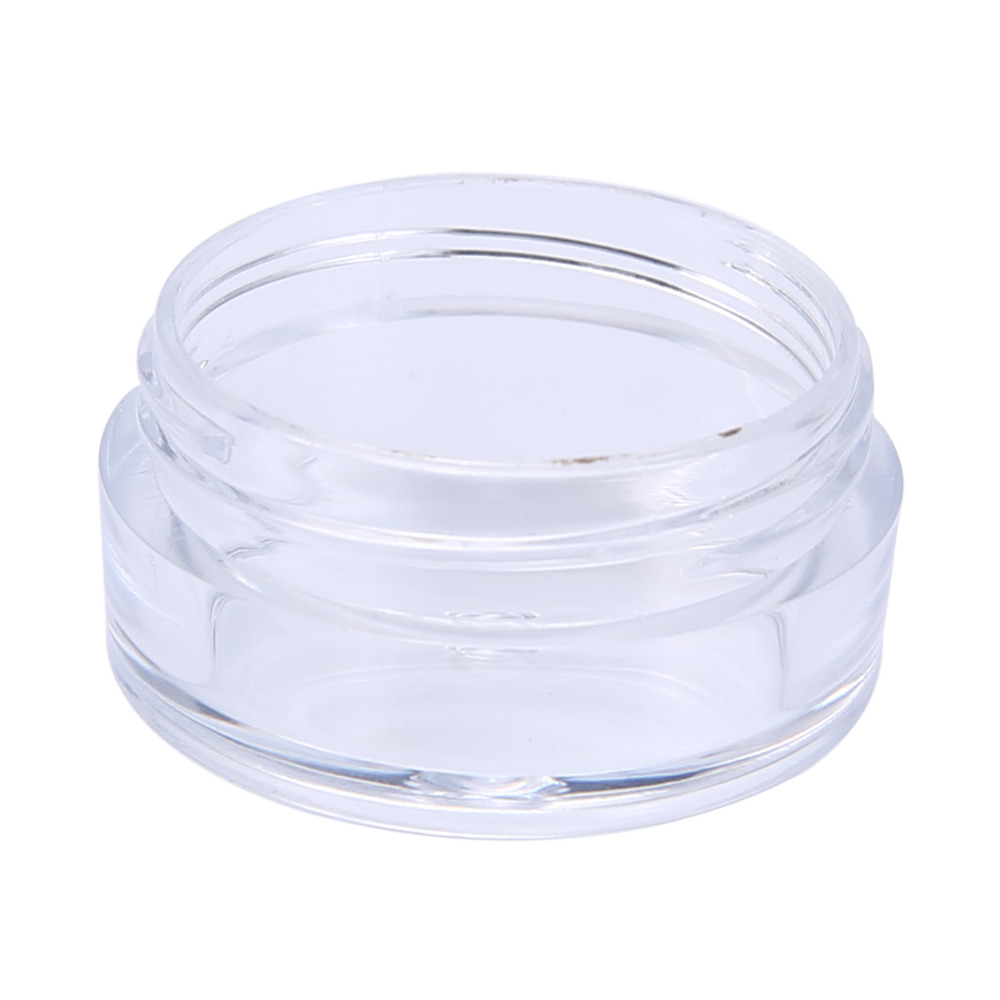 3afd69337f4e Wholesale- 50Pcs 5g Mini Clear Plastic Empty Jar Pot Travel Cosmetic Sample  Makeup Face Cream Containers Nail Art Organizer Home Storage