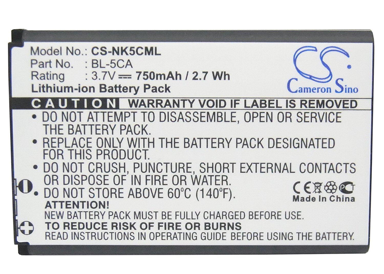 BBK BK-BL-5C,LAMTAM BL-05 Battery - Replacement forAnycool Enjoy W02,BANNO GT03B (Li-ion,3.70V,750mAh / 2.78Wh )