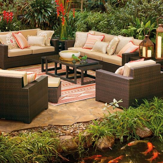 Hot sale high quality classic garden furniture synthetic rattan outdoor sofa set