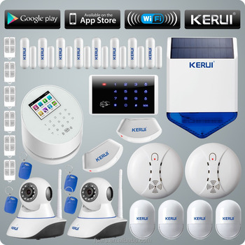KERUI All Network Covered WIFI GSM PSTN TFT Color display wireless home alarm system