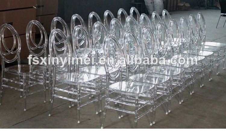 Strong knock down stacking transparent resin phoenix chair wholesale