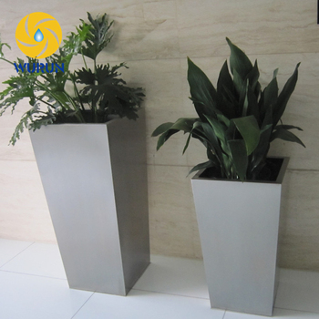 Metal Flower Pot In Pots And Indoor Small