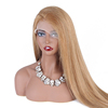 Hot hair products cheap human hair Straight lace front wig with baby hair black women